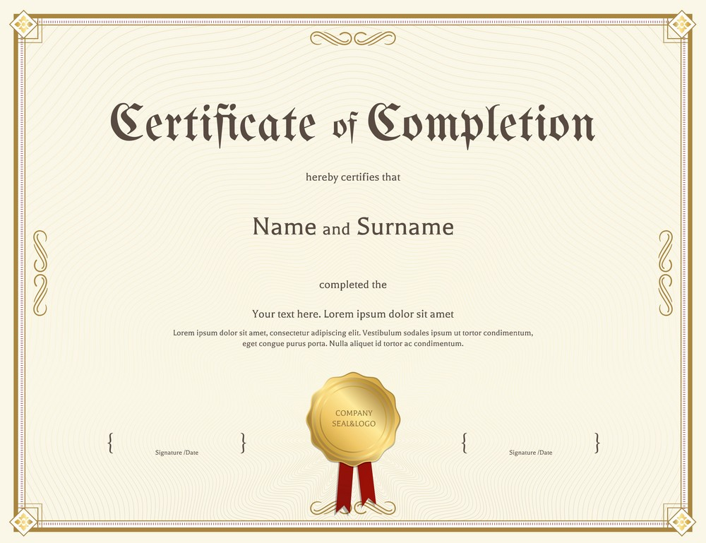 certificate-of-completion-template-vintage-theme-vector-12709312